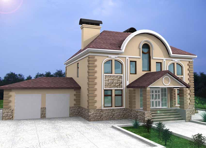 Дизайн фасада дома онлайн бесплатно